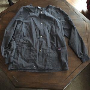 Charcoal Grey Scrub Jacket